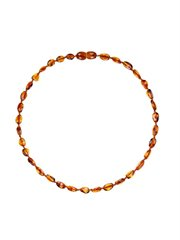 Amber Teething Necklace-Cognac