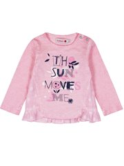 Knit T-Shirt Flame For Baby Girl