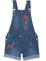 Denim Dungarees Stretch For Girl