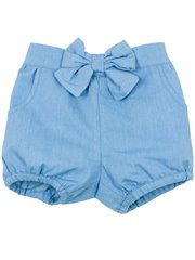 Abby Chambray Short W Bow