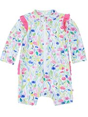 Hailey Ls Sunsuit W Frills