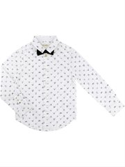 French Bulldog Print Shirt With Bow
