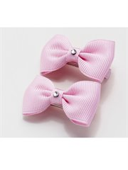 Small Bow Pair Baby Pink