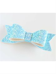 Sparkly Bow Hairclip Turquoise