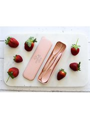 Eco 3Pce Cutlery Set - Blush