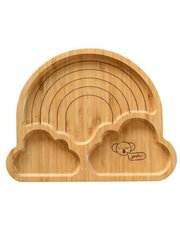 Rainbow Bamboo Plate With Suction