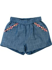 Kindred Chambray Short W Embroidery