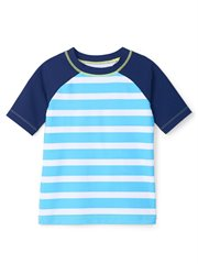 Blue Stripe Short Sleeve Rashguard