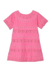 Bubble Gum Pink Boho Trim Dress