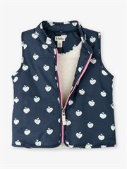 Patterned Apples Sherpa Lined Vest