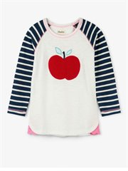 Fuzzy Apple Raglan Tee