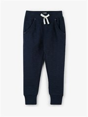 Navy Hearts Quilted Joggers