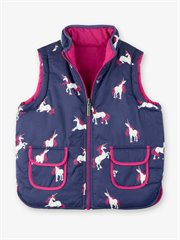 Majestic Unicorns Reversible Vest