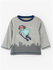 Super Pup Long Sleeve Baby Tee