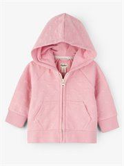 Pink Hearts Quilted Baby Hoodie