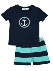 Navy Marle Anchor Pj