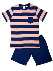 Coral Striped Pocket Snr Pj