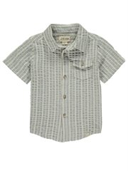 Grey Stripe Boys S/S Cotton Shirt