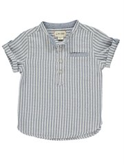 Boys Cotton Round Neck S/S Shirt