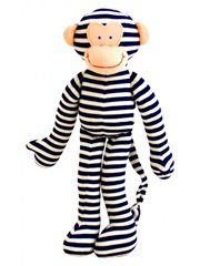 Toy - Monkey Rattle Navy Stripe