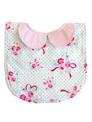 Peter Pan Collar Bib-Bows And Roses