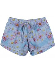 Chambray Shorts - Daisy Border