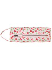 Round Pencil Case - Heart Cherries