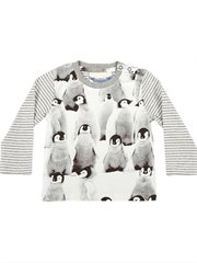 Button Shoulder Tee - Penguins
