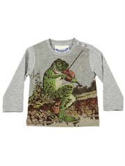 Button Shoulder Tee - Frog Song