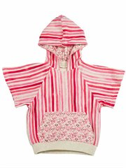 Short Sleeve Hooded Sweater - Pink