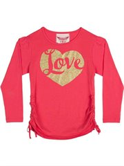 Drawstring T Shirt - Love Heart