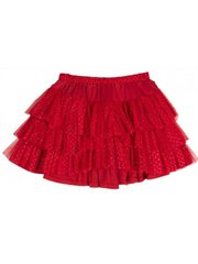 Frilled Skirt With Tulle