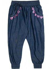 Shirred Chambray Trackies
