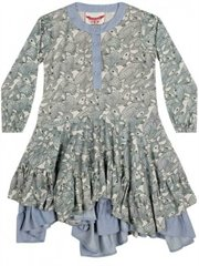 Frilled Dress - Grey Fawns