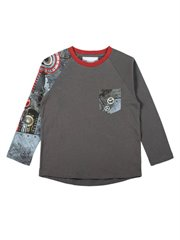 Long Sleeve Raglan T-Shirt - Robot