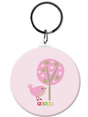 Button Bag Tag-Chirpy Bird