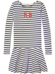 Striped Jersey Dress With Applique