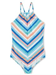Stripe Ruched Neck Tank