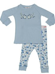 Indigo Floral Longjohn Pj Two Birds