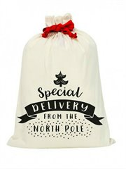 Canvas Santa Sack-Special Delivery