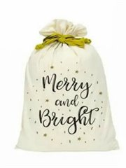 Canvas Santa Sack-Merry & Bright